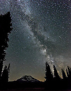 The Milky Way twinkled above Mt Adams and Muddy Meadows.