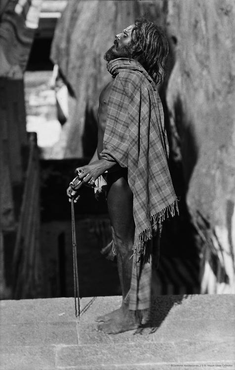 Priest at Rock Temple, Tiruchirappalli, India, 1929