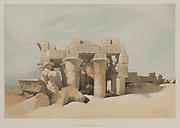 Egypt and Nubia, Volume I: Kom-Ombo, 1846. Louis Haghe (British, 1806-1885), F.G.Moon, 20 Threadneedle Street, London, after David Roberts (British, 1796-1864). Color lithograph