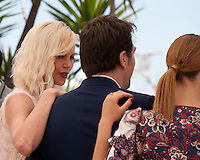 Charlize Theron, Javier Bardem and Adèle Exarchopoulos, actress,  at the The Last Face film photo call at the 69th Cannes Film Festival Friday 20th May 2016, Cannes, France. Photography: Doreen Kennedy
