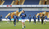 Bolton Wanderers players warm up<br /> <br /> Photographer Mick Walker/CameraSport<br /> <br /> The EFL League 2 - Mansfield Town v Bolton Wanderers  - Wednesday 17th February  2021 - One Call Stadium-Mansfield<br /> <br /> World Copyright © 2020 CameraSport. All rights reserved. 43 Linden Ave. Countesthorpe. Leicester. England. LE8 5PG - Tel: +44 (0) 116 277 4147 - admin@camerasport.com - www.camerasport.com