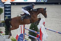 Devos Wouter (BEL) - Tonik Hero <br /> Belgian Championship<br /> FEI World Breeding Jumping Championships for Young Horses - Lanaken 2014<br /> © Dirk Caremans