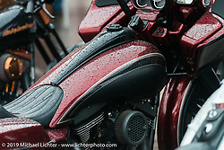 A very wet Easyriders Magazine Bike Show at the Easyriders Saloon during the annual Sturgis Black Hills Motorcycle Rally. SD, USA. August 5, 2014.  Photography ©2014 Michael Lichter.