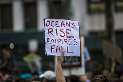 June 1, 2017 - New York, New York, United States - Hours after Donald Trump announced that he will withdraw the U.S. from the Paris climate agreement, hundreds in New York City protested in the streets. (Credit Image: © Michael Nigro/Pacific Press via ZUMA Wire)