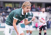 AMSTELVEEN - Justen Blok (Rotterdam)  tijdens de competitie hoofdklasse hockeywedstrijd heren, Amsterdam -Rotterdam (2-0) .  COPYRIGHT KOEN SUYK