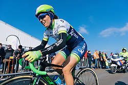 Lizzie Williams enjoying the sunshine if not the climb - Ronde van Drenthe 2016, a 138km road race starting and finishing in Hoogeveen, on March 12, 2016 in Drenthe, Netherlands.