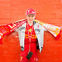 Anfield, Liverpool, UK. 15th April, 2014. <br /> Millie K came to Anfield to pay her respects to the 96 who died 25 years ago at Hillsborough.