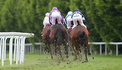 The field take the bend in the Homeserve Dee Stakes during Boodles Ladies Day at Chester Racecourse.