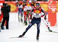 Kombinert<br /> FIS World Cup<br /> Foto: Gepa/Digitalsport<br /> NORWAY ONLY<br /> <br /> RAMSAU AM DACHSTEIN,AUSTRIA,19.DEC.15 - NORDIC SKIING, NORDIC COMBINED, CROSS COUNTRY SKIING - FIS World Cup, 10km Gundersen, men. Image shows Magnus Moan (NOR).
