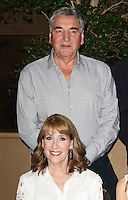Jim Carter, Phyllis Logan, Downton Abbey - Final Season press launch photocall, The May Fair Hotel, London UK, 13 August 2015, Photo by Richard Goldschmidt
