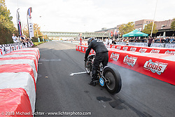 Sultans of Sprint 1/8 mile races during the Intermot International Motorcycle Fair. Cologne, Germany. Saturday October 6, 2018. Photography ©2018 Michael Lichter.