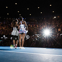 Serena Williams of the United States after winning the women's final on day thirteen of the 2017 Australian Open at Melbourne Park on January 28, 2017 in Melbourne, Australia.<br />