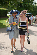 JEANNIE BROOKE BARRETT; SARKA DARTON;, Glorious Goodwood. Ladies Day. 28 July 2011. <br /> <br />  , -DO NOT ARCHIVE-© Copyright Photograph by Dafydd Jones. 248 Clapham Rd. London SW9 0PZ. Tel 0207 820 0771. www.dafjones.com.