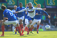 Matty Done assist for Rochdale goal during the EFL Sky Bet League 1 match between Portsmouth and Rochdale at Fratton Park, Portsmouth, England on 13 April 2019.