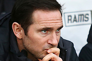 Derby County Manager Frank Lampard during the The FA Cup 3rd round match between Derby County and Southampton at the Pride Park, Derby, England on 5 January 2019.