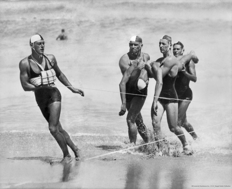 Life Savers at Bondi Beach, Sydney, Australia, 1930