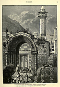 Engraving on Wood of Entrance to the Great Mosque (Jamia el Kebir), Nablus Originally a church dedicated to St. John from Picturesque Palestine, Sinai and Egypt by Wilson, Charles William, Sir, 1836-1905; Lane-Poole, Stanley, 1854-1931 Volume 2. Published in New York by D. Appleton in 1881-1884