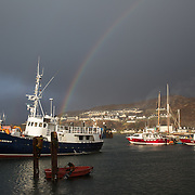 Mallaig Boatyard. The Elizabeth G is brought in for repairs. Picture Robert Perry 9th April 2016<br /> <br /> Must credit photo to Robert Perry<br /> FEE PAYABLE FOR REPRO USE<br /> FEE PAYABLE FOR ALL INTERNET USE<br /> www.robertperry.co.uk<br /> NB -This image is not to be distributed without the prior consent of the copyright holder.<br /> in using this image you agree to abide by terms and conditions as stated in this caption.<br /> All monies payable to Robert Perry<br /> <br /> (PLEASE DO NOT REMOVE THIS CAPTION)<br /> This image is intended for Editorial use (e.g. news). Any commercial or promotional use requires additional clearance. <br /> Copyright 2014 All rights protected.<br /> first use only<br /> contact details<br /> Robert Perry     <br /> 07702 631 477<br /> robertperryphotos@gmail.com<br /> no internet usage without prior consent.         <br /> Robert Perry reserves the right to pursue unauthorised use of this image . If you violate my intellectual property you may be liable for  damages, loss of income, and profits you derive from the use of this image.
