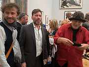 THOMAS HEATHERWICK; MAT COLLISHAW; RON ARAD, Royal Academy of Arts Summer Party. Burlington House, Piccadilly. London. 7June 2017