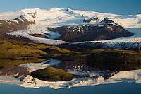 14.06.2008.Hrútárjökull glacier.Vatnajökull ice cap.Iceland