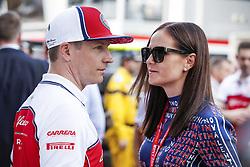 May 25, 2019 - Monte Carlo, Monaco - Motorsports: FIA Formula One World Championship 2019, Grand Prix of Monaco, .#7 Kimi Raikkonen (FIN, Alfa Romeo Racing) with his girlfriend Minttu Raikkonen  (Credit Image: © Hoch Zwei via ZUMA Wire)