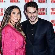 Kelly Brook and Jeremy Parisi Arrivals at Pretty Woman The Musical press night at Piccadilly Theatre on 2nd March 2020, London, UK.