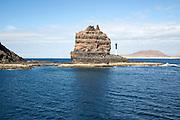 Sea stack Punta Fariones, Chinijo Archipelago, Orzola, Lanzarote, Canary Islands, Spain
