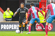 Sean Scannell of Bradford City (7) in action during the EFL Sky Bet League 1 match between Scunthorpe United and Bradford City at Glanford Park, Scunthorpe, England on 27 April 2019.