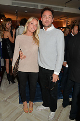VICTORIA McCARTHY and DAN PHILIPSON at a party to celebrate the launch of Baar & Bass, 336 Kings Road, London on 9th September 2014.