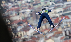 03.01.2014, Bergisel Schanze, Innsbruck, AUT, FIS Ski Sprung Weltcup, 62. Vierschanzentournee, Training, im Bild Anders Fannemel (NOR) // Anders Fannemel (NOR) during practice Jump of 62nd Four Hills Tournament of FIS Ski Jumping World Cup at the Bergisel Schanze, Innsbruck, <br /> Austria on 2014/01/03. EXPA Pictures © 2014, PhotoCredit: EXPA/ JFK