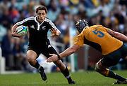 Tim Bateman makes a break. Australia A v New Zealand Maori during the 2008 IRB Pacific Nations Cup played at the Sydney Football Stadium, Australia on Sunday June 6. Photo: Clay Cross/SPORTSPICS<br /> clayjcross@bigpond.com    +61 413836650