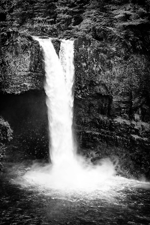 Double waterfall, Hilo, Hawaii.