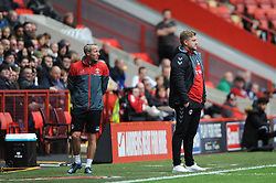 Charlton Athletic Manager Karl Robinson (right) with assistant manager Lee Bowyer
