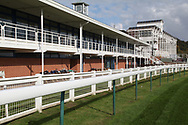 Empty stands prior to racing behind closed doors at Nottingham Racecourse, Nottingham, United Kingdom on 14 October 2020.