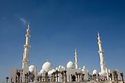 Abu Dhabi, United Arab Emirates (UAE)..February 4th 2009..The Sheikh Zayed Mosque in construction