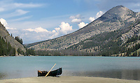 A canoe across Upper Green River Lake is a splendid way to spend a day or two in the Wind River Mountains.