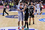 DESCRIZIONE : Campionato 2015/16 Serie A Beko Dinamo Banco di Sardegna Sassari - Dolomiti Energia Trento<br /> GIOCATORE : Brian Sacchetti Davide Pascolo<br /> CATEGORIA : Fair Play Postgame<br /> SQUADRA : Dinamo Banco di Sardegna Sassari<br /> EVENTO : LegaBasket Serie A Beko 2015/2016<br /> GARA : Dinamo Banco di Sardegna Sassari - Dolomiti Energia Trento<br /> DATA : 06/12/2015<br /> SPORT : Pallacanestro <br /> AUTORE : Agenzia Ciamillo-Castoria/L.Canu