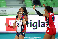 Winifer Maria Fernandez Perez of Dominican Republic celebrates during the volleyball match between National team of Turkey and Dominican Republic in Semifinal Round of Womens U23 World Championship 2017, on September 16, 2017 in SRC Stozice, Ljubljana, Slovenia. Photo by Morgan Kristan / Sportida