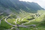 winding Transfagarasan mountain road, Romania