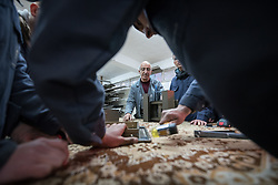 25 February 2020, Jerusalem: Teacher Gabi Kamel leads class in Aluminium work at the vocational training centre in Beit Hanina. The Lutheran World Federation's vocational training centre in Beit Hanina offers vocational training for Palestinian youth across a range of different professions, providing them with the tools needed to improve their chances of finding work.