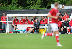 Bristol City manager, Steve Cotterill shouts instructions from the dug out - Photo mandatory by-line: Dougie Allward/JMP - Mobile: 07966 386802 - 05/07/2015 - SPORT - Football - Bristol - Brislington Stadium - Pre-Season Friendly