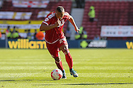 Middlesbrough midfielder Emilio Nsue during the Sky Bet Championship match between Middlesbrough and Leeds United at the Riverside Stadium, Middlesbrough, England on 27 September 2015. Photo by Simon Davies.