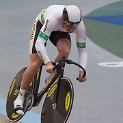 Australia Men Elite Team Sprint team member Peter Lewis in action during the 2012 Oceania WHK Track Cycling Championships, Invercargill, New Zealand. 21st November 2011. Photo Tim Clayton...