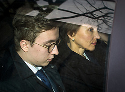 © Licensed to London News Pictures. 21/01/2016. London, UK. MARINA LITVINENKO (right) and her son ANATOMY (left) being driven from the The High Court in London after a report into the killing of  her husband, Alexander Litvinenko was released. Alexander Litvinenko was poisoned with the radioactive isotope polonium-210  in London. Photo credit: Ben Cawthra/LNP