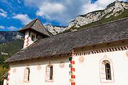 Church along the Kupa River in Ribjek, Slovenia