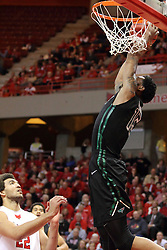 18 March 2015:   Greg Mays lifts off next to the basket for a dunk during an NIT men's basketball game between the Green Bay Phoenix and the Illinois State Redbirds at Redbird Arena in Normal Illinois