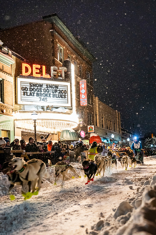 UP200 Sled Dog Marathon in downtown Marquette, Michigan.