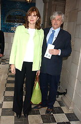 FRANK JOHNSON and his wife VIRGINIA JOHNSON mother of Lord Lovat at the No Campaign's Summer Party - a celebration of the 'Non' and 'Nee' votes in the Europen referendum in France and The Netherlands held at The Peacock House, 8 Addison Road, London W14 on 5th July 2005.<br />
