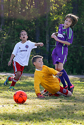 09 April 2016. Hammond, Louisiana.<br /> South Tangi Youth Soccer Association (STYSA), Chappapeela Sports Complex, 30th Annual Strawberry Cup,  <br /> New Orleans Jesters Youth Academy U10 team Purple take on Louisiana Fire LP Navy. <br /> Jesters win 4-0. <br /> Photo©; Charlie Varley/varleypix.com