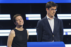 May 27, 2019 - Brussels, Brussels, Belgium - GREEN candidates for the presidency of the European Commission, Ska Keller and his colleague Bas Eickhout in a press conference. (Credit Image: © Nicolas Landemard/Le Pictorium Agency via ZUMA Press)